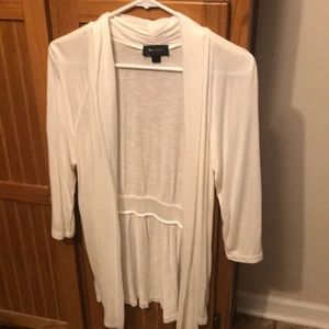 3/4 sleeve white cardigan